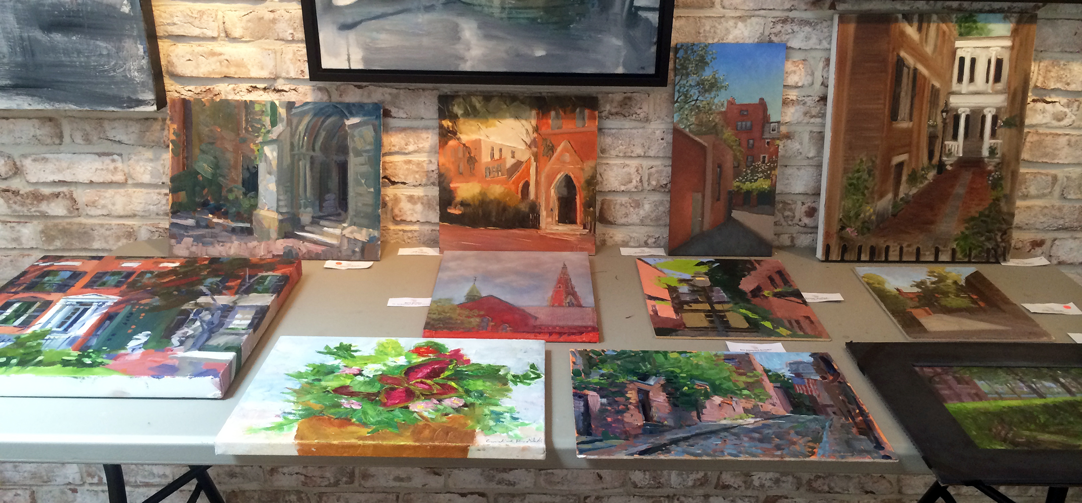 A collection of paintings from Paint the Hill