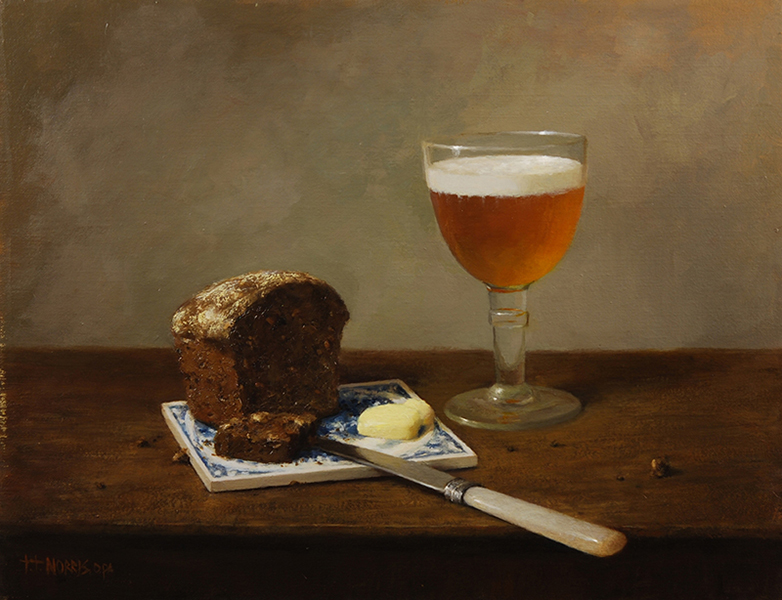 'Beer & Bread', 14 x 18, Oil on Linen, SOLD