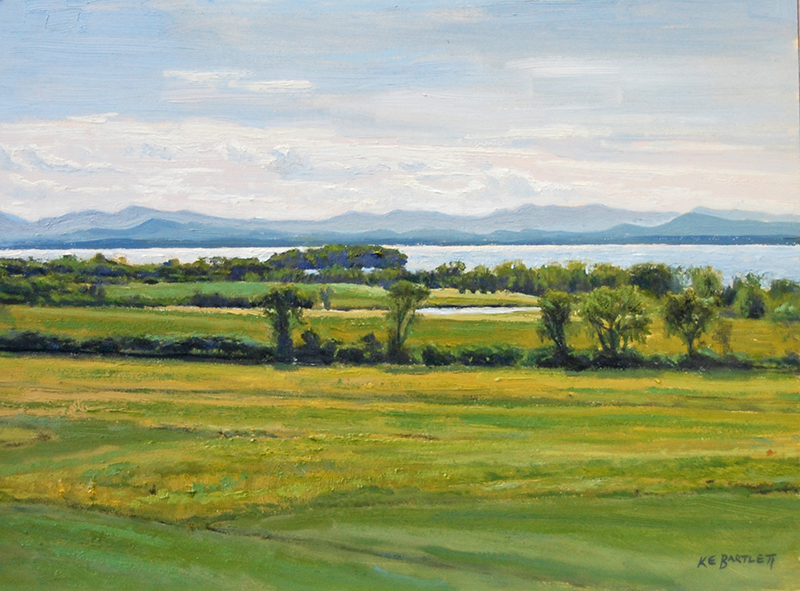 'Afternoon Glare, Lake Champlain', 9 x 12, Oil on Panel, SOLD