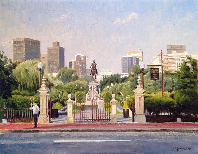 'Garden Gates', 11 x 14, Oil on Linen, SOLD