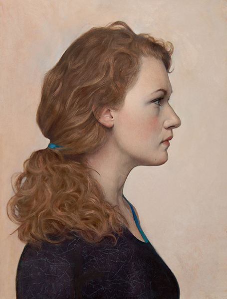 'Hedwig Profile', 16 x 12, Oil on Panel, SOLD