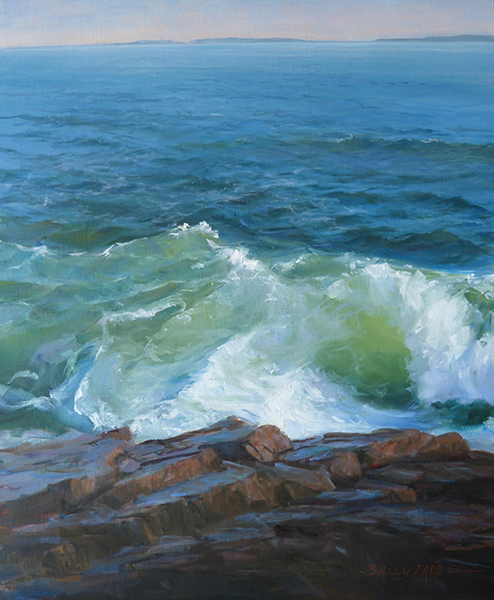 Sally Ladd Cole   'Bold Wave'   30 x 20 inches   Oil on Linen