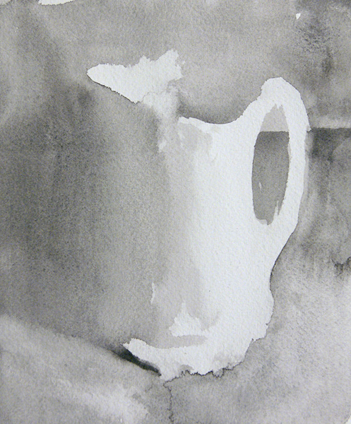 'Pitcher', 6.5 x 5.5, Watercolor on Paper, SOLD