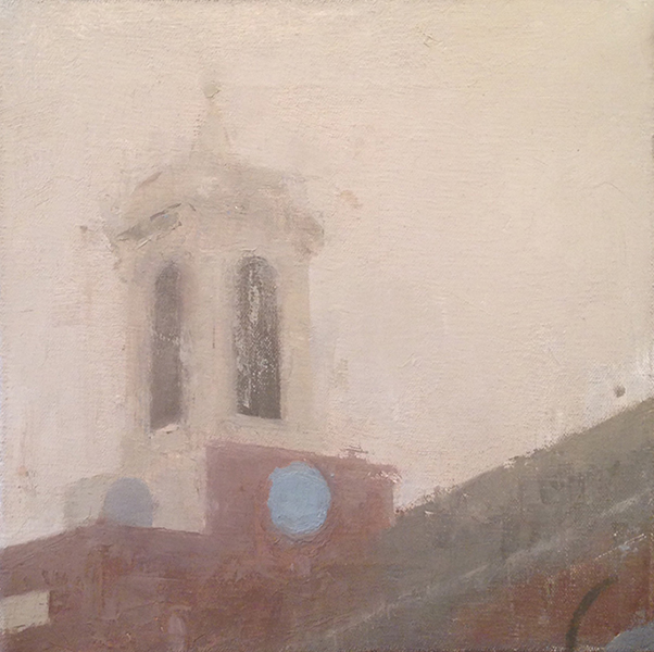 'Charles Street Meeting House', 10 x 10, Oil on Canvas, SOLD