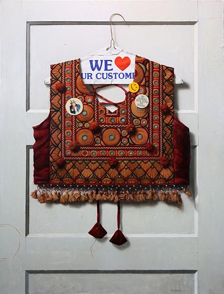 Adam Vinson, 'We Love Your Custom', 34 x 26 inches, Oil on Panel