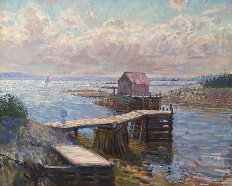'Blue Rocks, Slack Tide', 35 x 43, Oil on Linen, SOLD