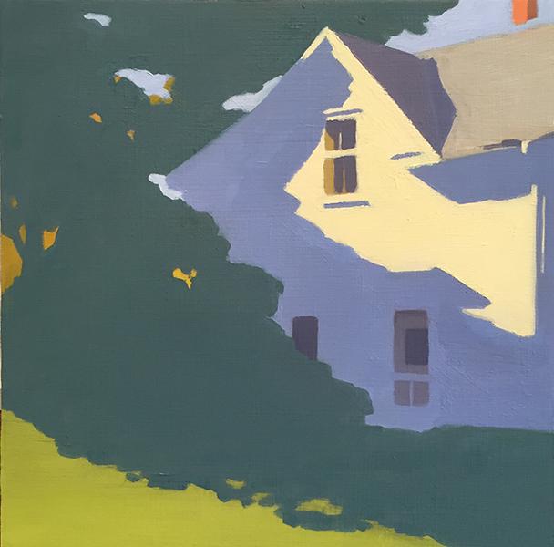 'Farmhouse', 12 x 12, Oil on Panel, SMG ID #1075
