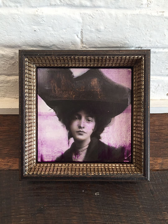 'Duchess in Violet' Framed, SOLD