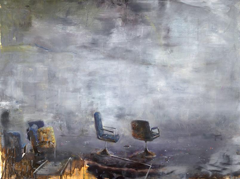 'Plate Techtonics', 30 x 40, Oil on Panel, SOLD