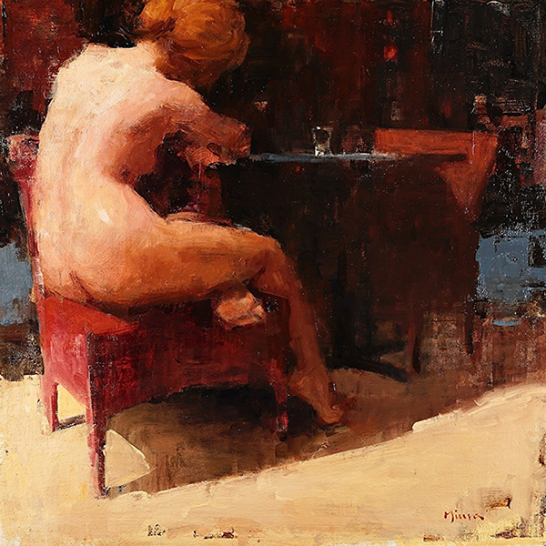 'Nightcap', 20 x 20, Oil on Panel, SOLD