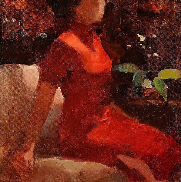 'Wallflower', 12 x 12, Oil on Panel, SMG ID #