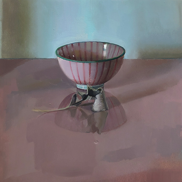 'Striped Bowl', 12 x 12, Oil on Panel, SMG ID #