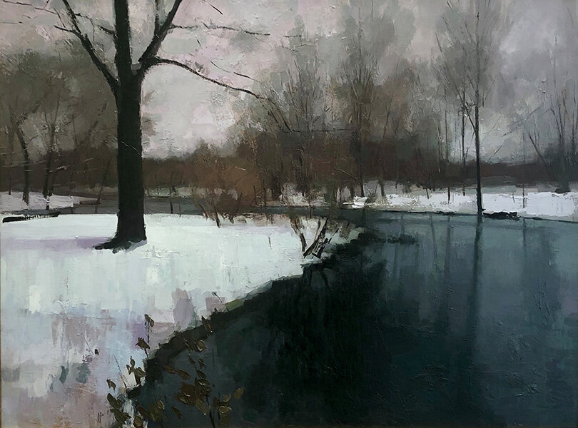 'Back Bay Fens', 30 x 40, Oil on Linen on Panel, SMG ID #