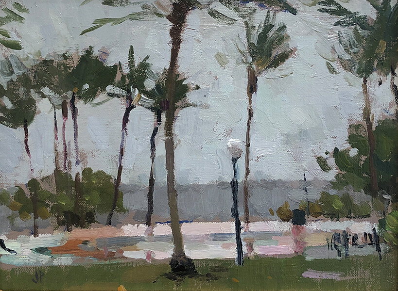 'Spring Storm', 9 x 12, Oil on Linen on Panel, SMG ID #