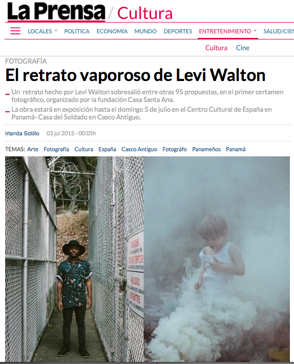 Feature on  Diario La Prensa –main news publication in Panama–for first prize in Concurso Miradas