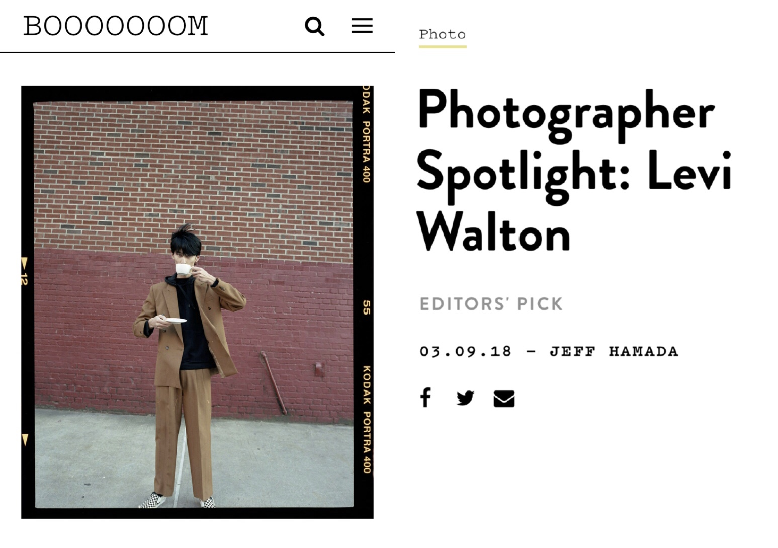 BOOOOOOOM Photographer Spotlight: Levi Walton