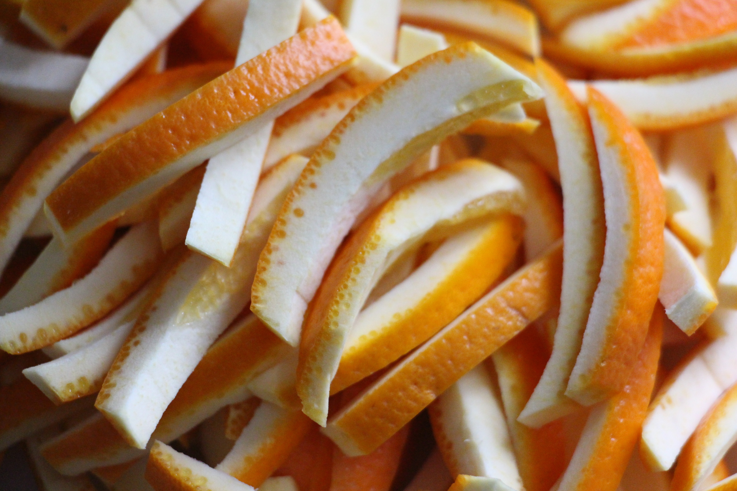 orange peel slices