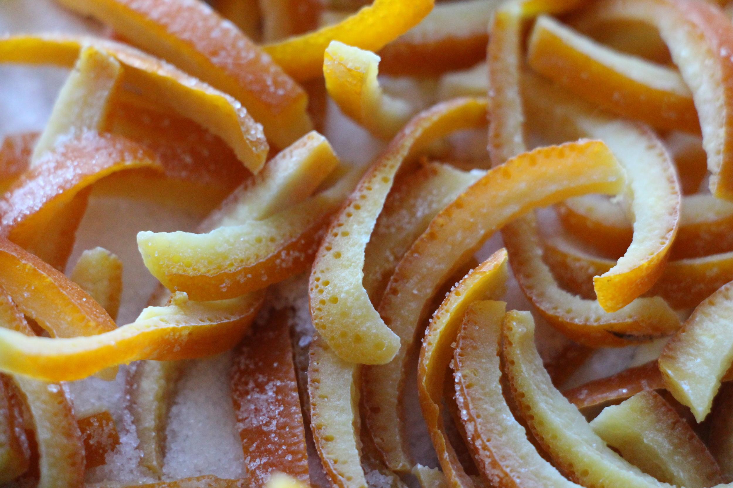 orange confite dessert