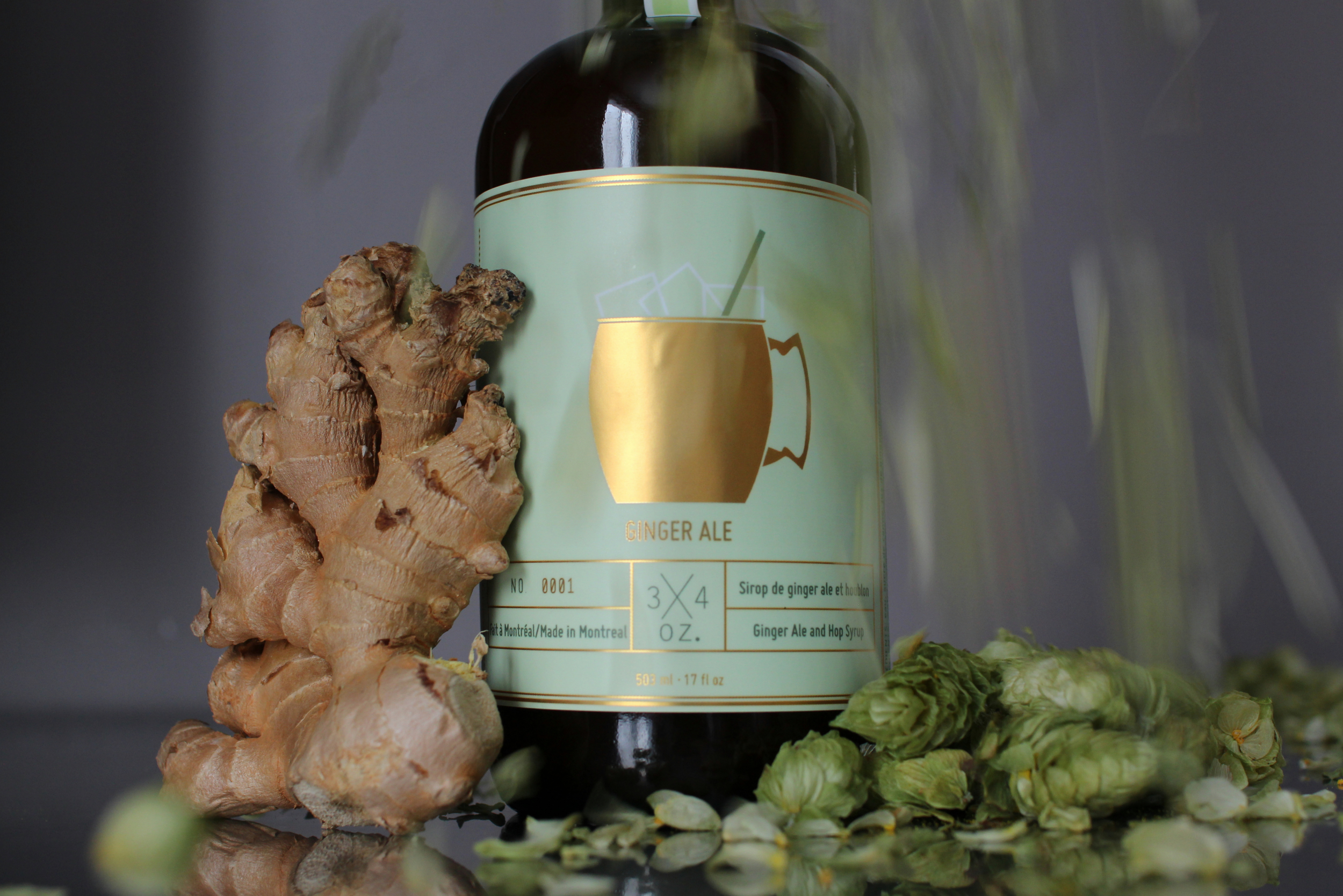 Sirop ginger ale houblon 3/4 oz