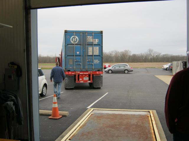 Container rolls up to Exit 76