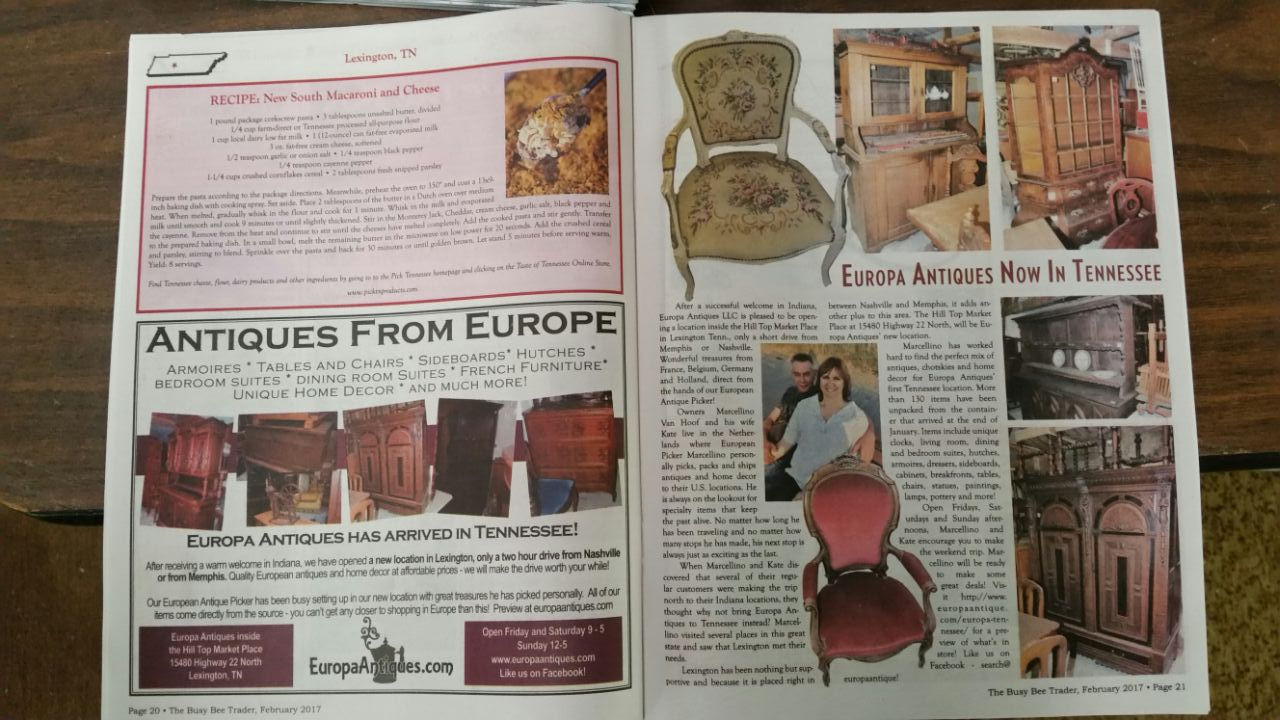 Look for our ad and more information in the Busy Bee Trader, out this month!