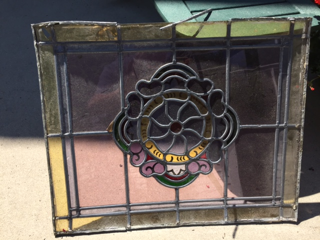 Stained Glass window before repairs