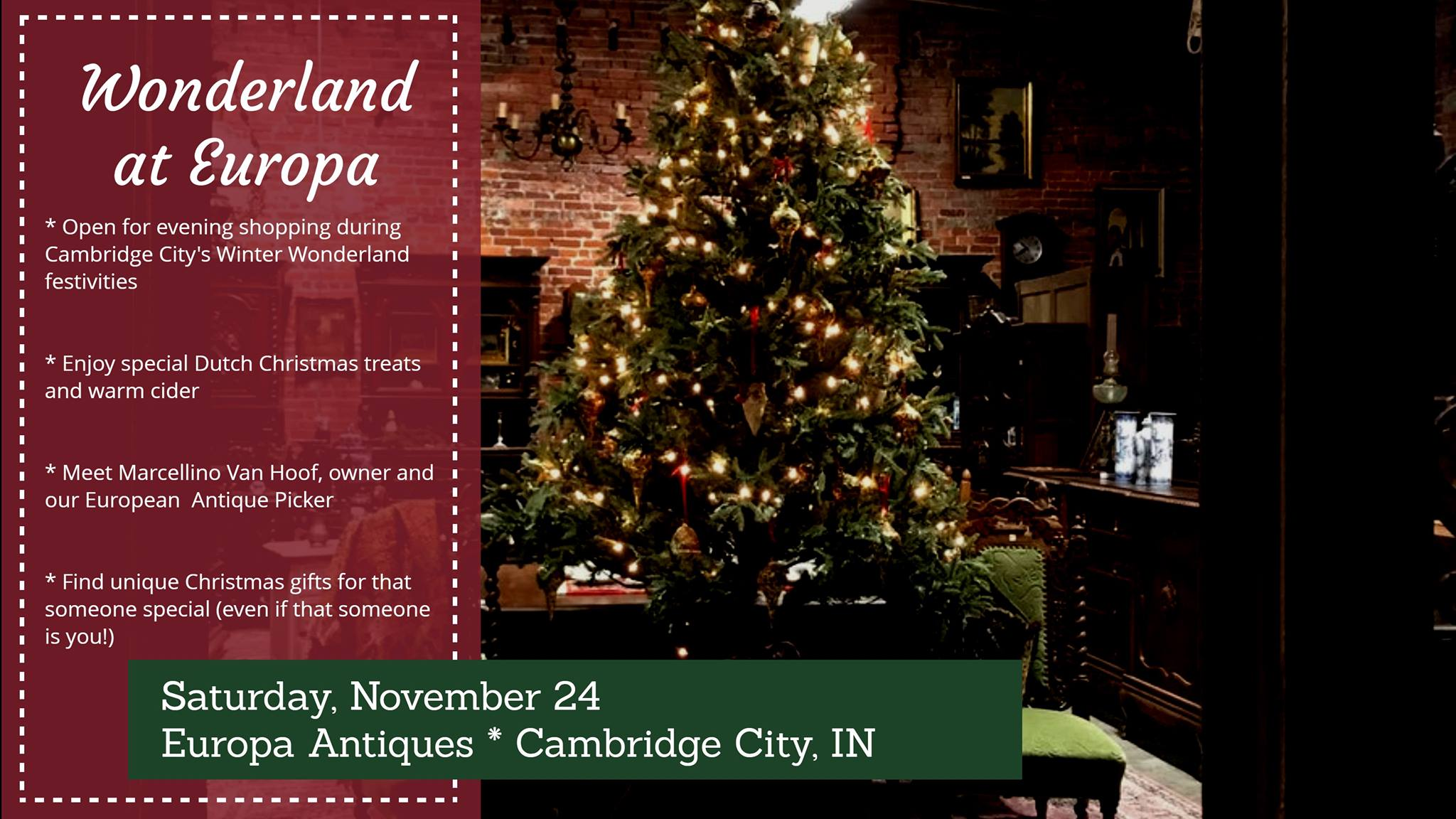 Winter Wonderland and Europa Antiques