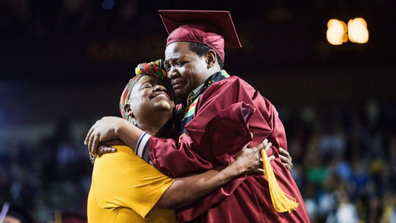 Stephan and Sharonda Wilson attending graduation (Photo Courtesy of Yahoo News)