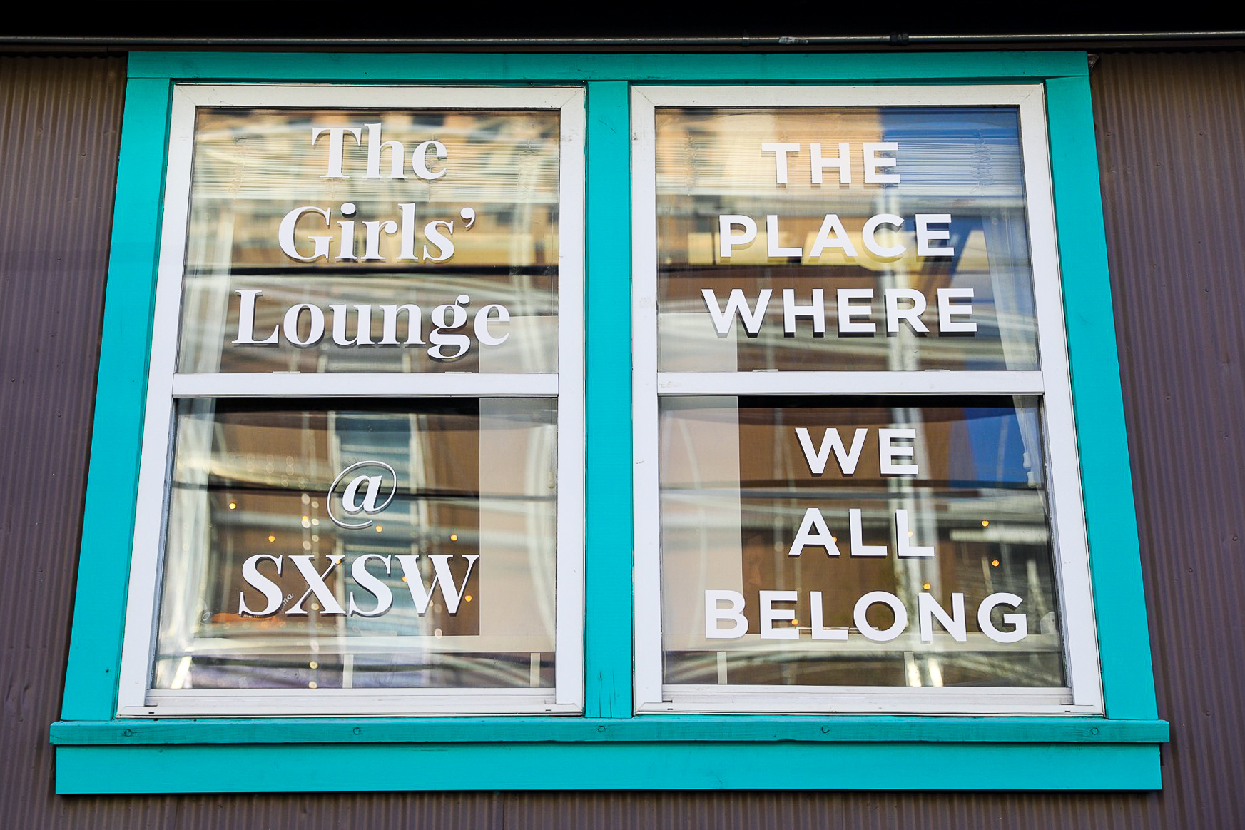 Window signage done for The Girls Lounge @ SXSW