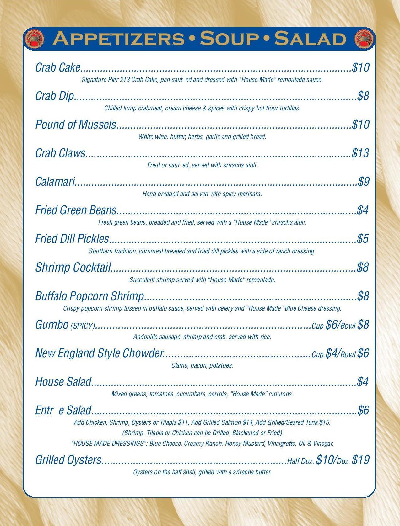 Fresh Seafood In Marietta Ga Pier 213 Seafood Restaurant