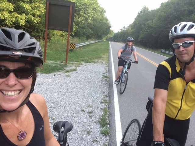 Jess Lawrence, Stephanie Bunge and Jamie Sparks enjoying a bike ride after the event!
