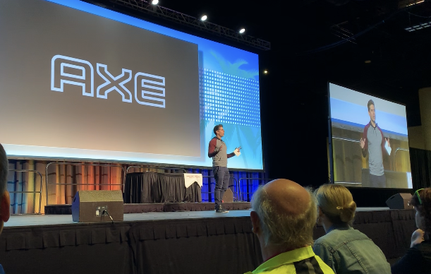 Carlos Andrés Gómez introducing the partnership at the SHAPE Tampa General session.