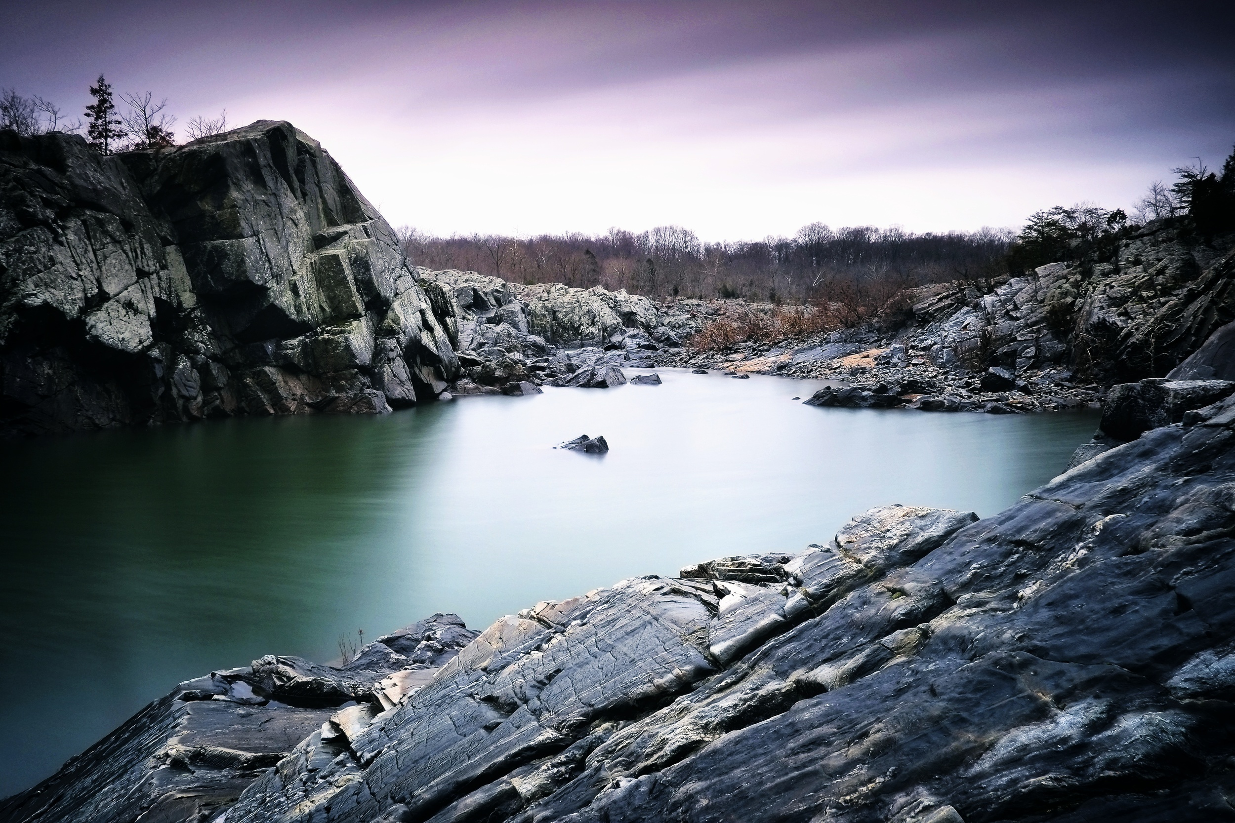 Great Falls National Park. ISO 200, f11, 58 seconds at18mm.