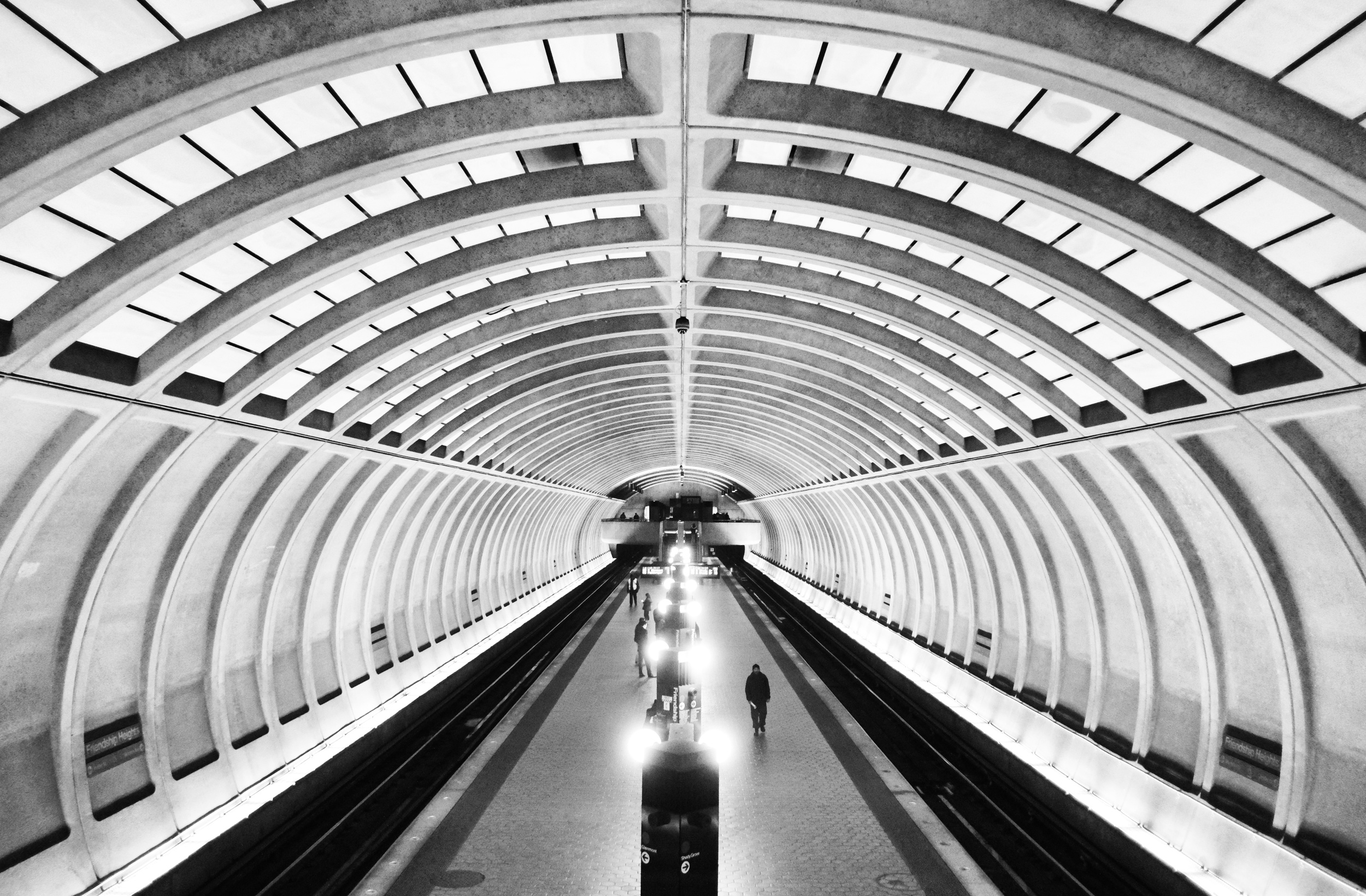 Friendship Heights Metro Station. ISO 3200, f2, 1/90 at 18mm.