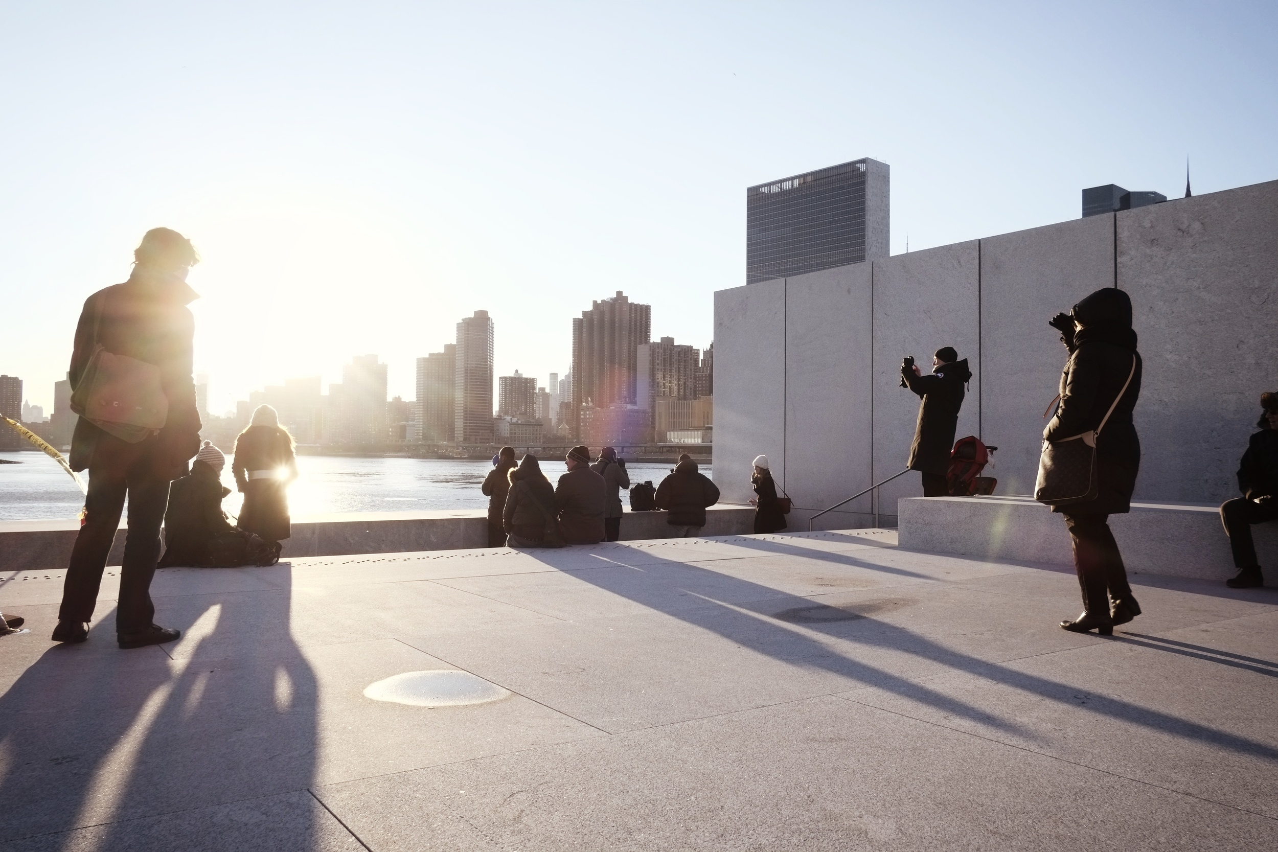 Louis Kahn's FDR Four Freedoms Park on Roosevelt Island. ISO 250, f8, 1/280 at 18mm.