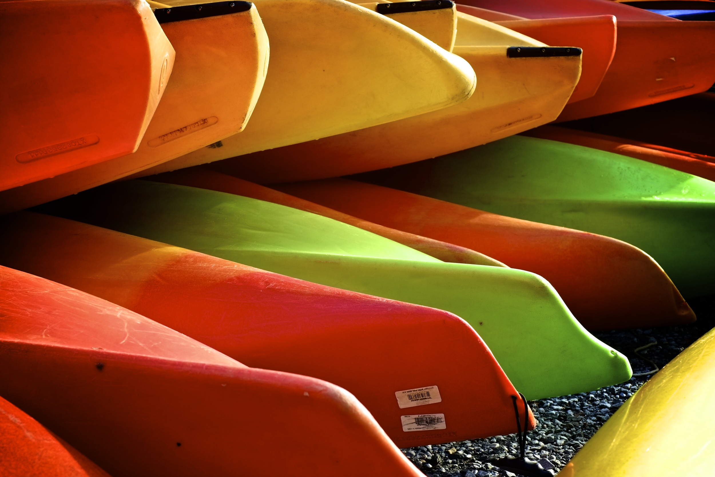 Kayak's at Jack's Boathouse in Georgetown. ISO 320, f5.6, 1/200 at 35mm.