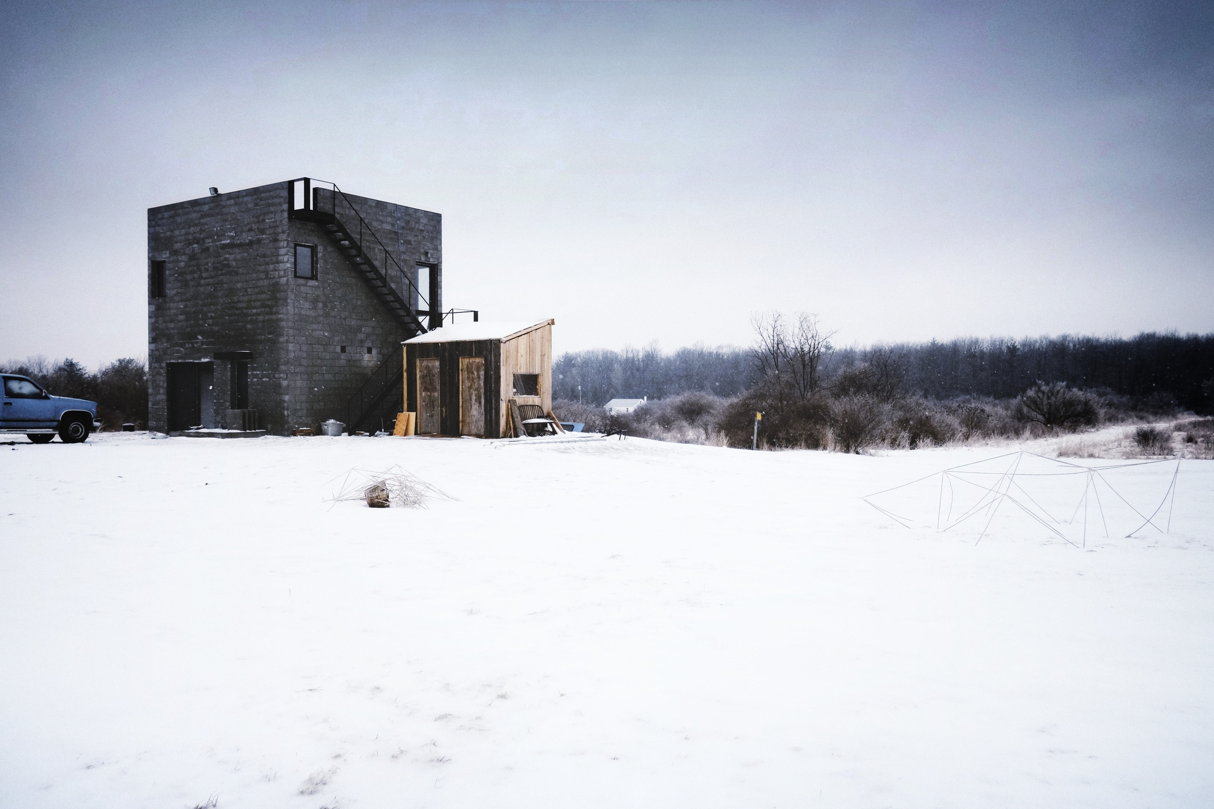 Cube House, designed by Simon Ungers. ( Ithaca, NY )