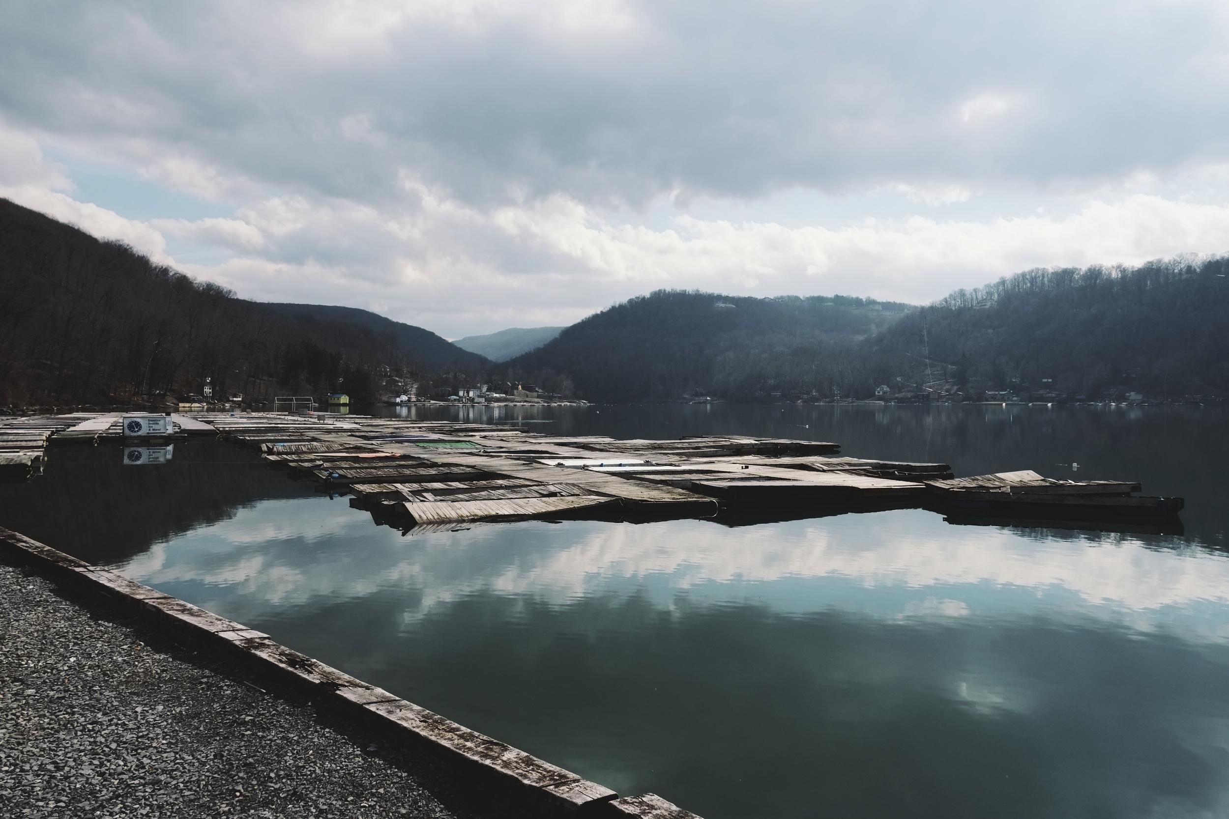 Off season boat docks.