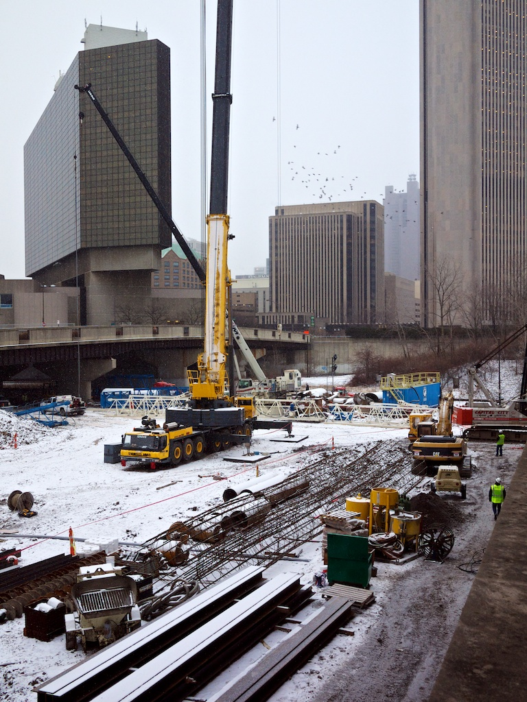 Quick Look: Construction of HOK's Columbus Convention Center Hotel