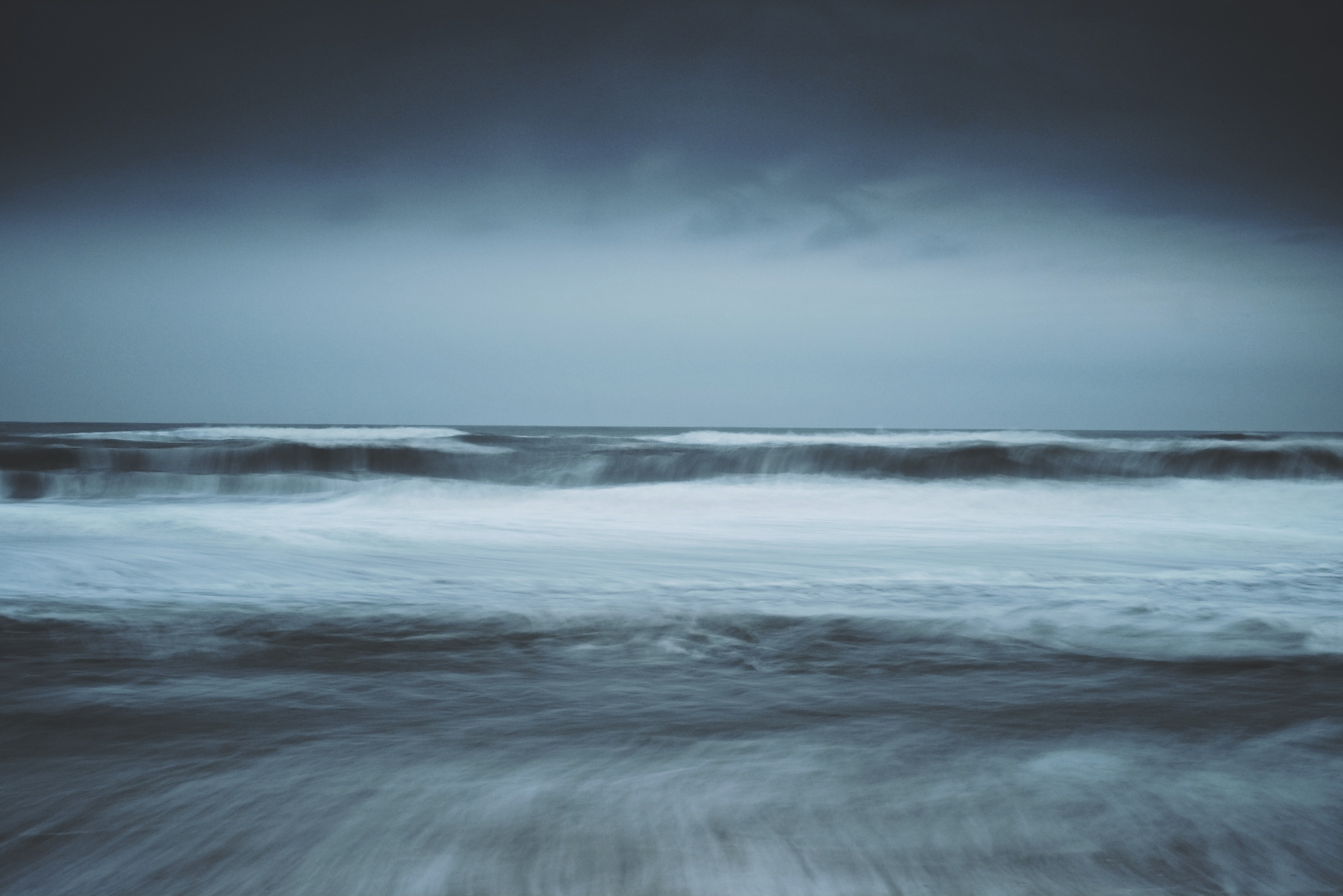 EXIF : ISO 200, f11, 3.2 seconds @ 35mm.  Filters : Big Stopper + .45 Hard Grad ND on sky.  Windy & gloomy afternoon on the ocean.