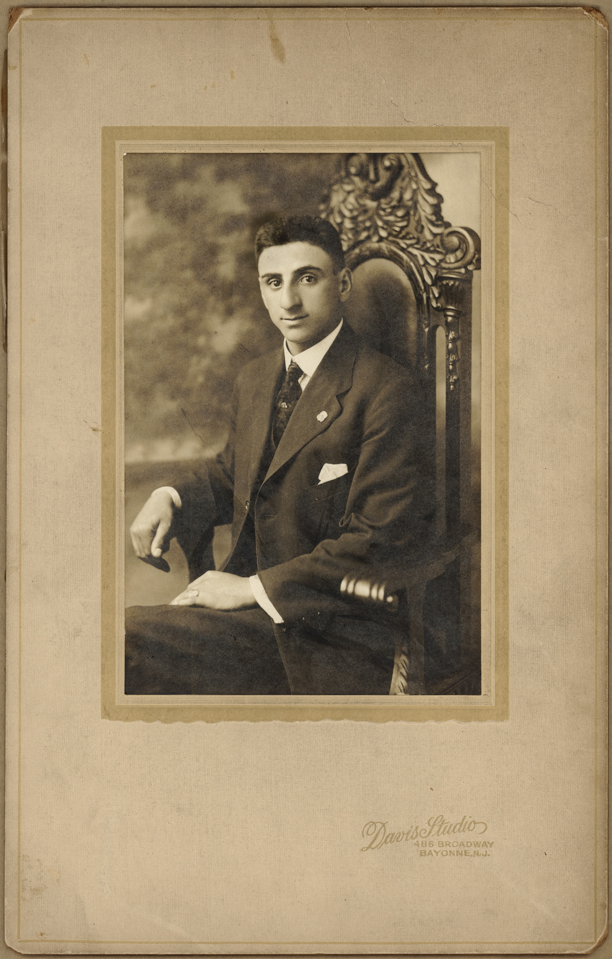 ~1907New York City  Joseph Acquiste [my great grandfather] as a young man.