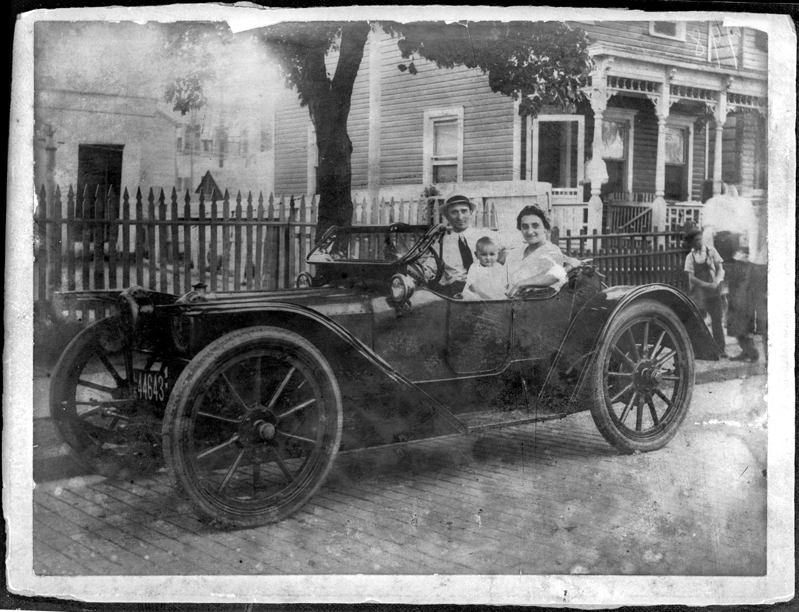 ~1916 Bayonne, NJ  Joseph Acquiste, wife Lucy, and first child Mildred.