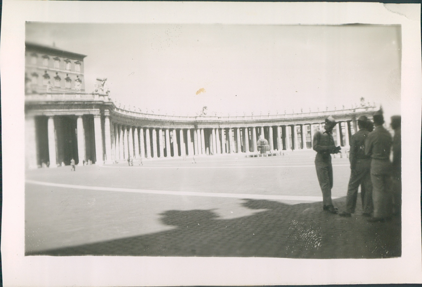 1944.Saint Peters Square,Rome, Italy.