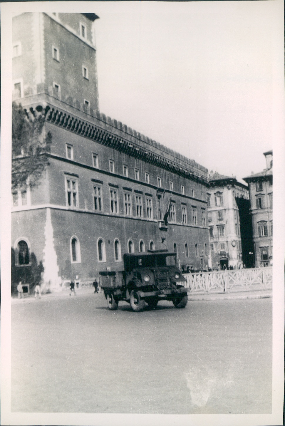 """September 28th, 1944.Mussolini's Square and """"The Balcony"""",Rome, Italy."""