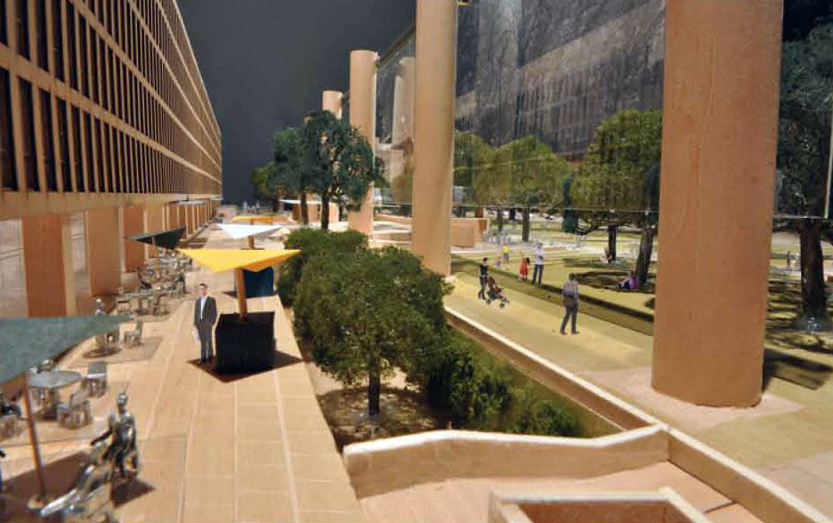 Frank Gehry's revised Eisenhower Memorial approved.