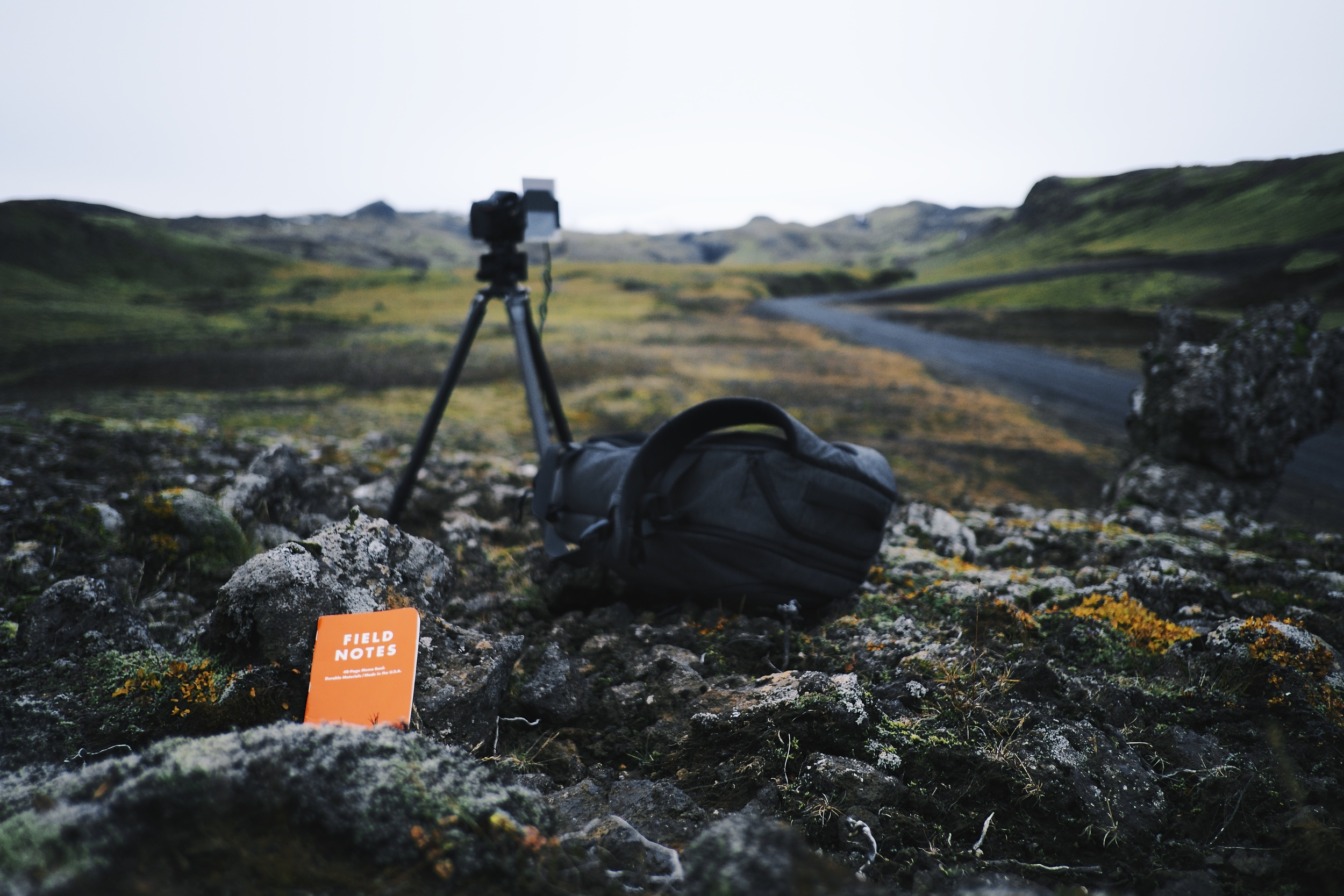 """A little shout out to two items that performed extremely well in harsh conditions. Big thanks.   Field Notes """"EXPEDITION"""" EDITION   Incase Camera Backpack   Fuji: f2 @ 18mm, 1/4000, -.67EV, ISO800"""