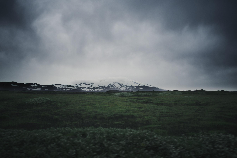 From the car, heading to the volcano Hekla.