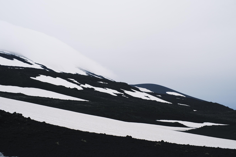 Snow capped Hekla.