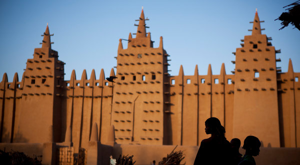 Mali's  Great Mosque of Djenn   é  , a UNESCO Cultural Heritage site.