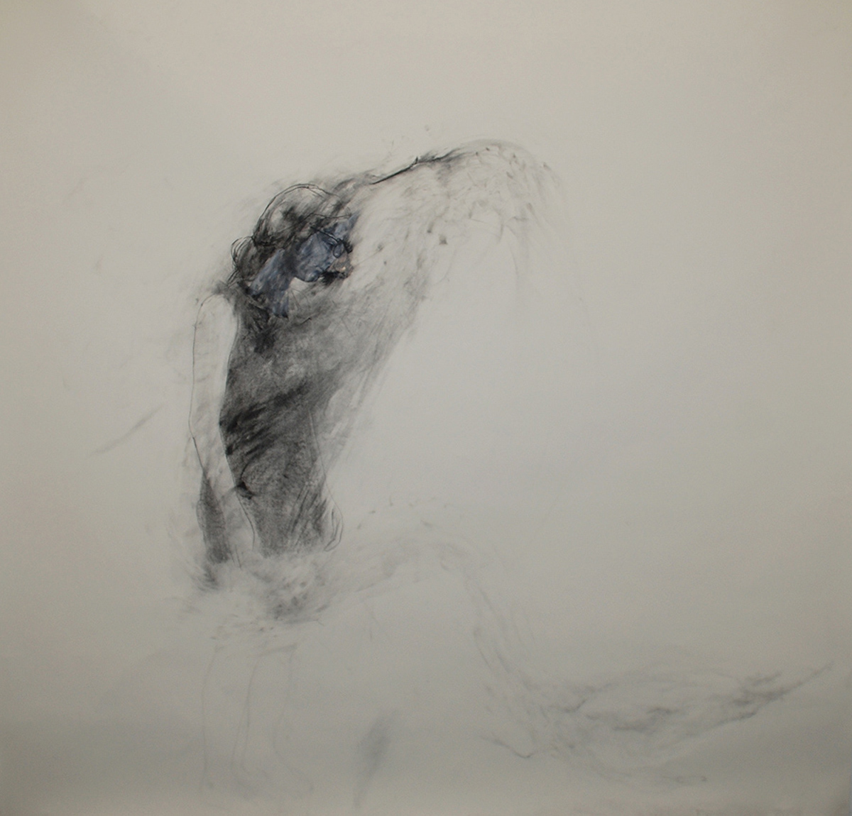 """Inertia / 84"""" x 90"""" / Oil pastel & charcoal on paper"""